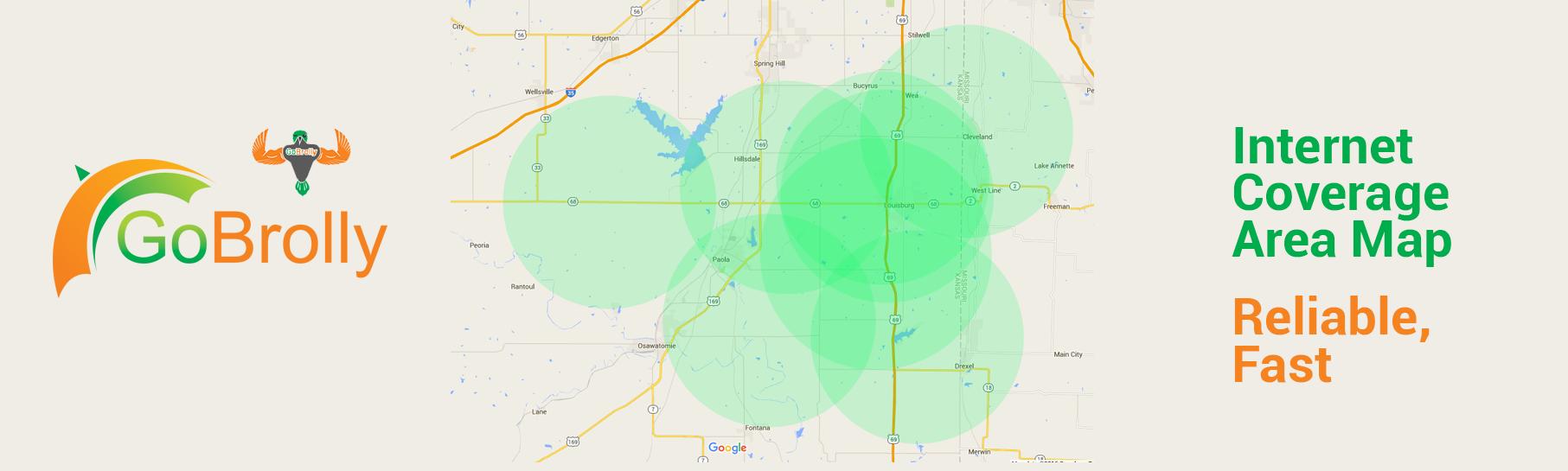 GoBrolly® Wireless Internet Service Area Map 2017
