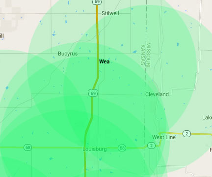 Wea Kansas Internet Service Area