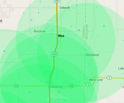 Wea Kansas Internet Service Area