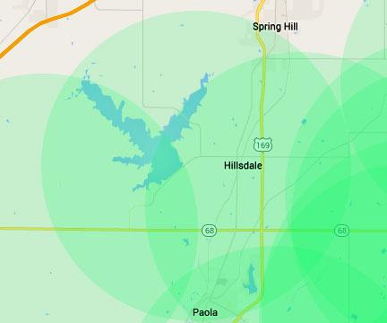 Hillsdale Internet Service Area