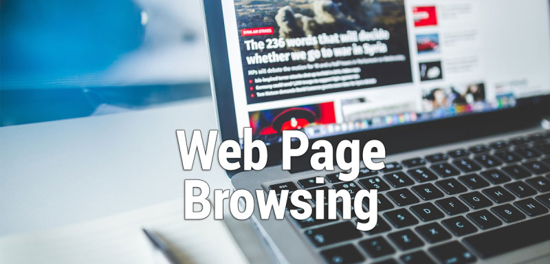 Data and Bandwidth Required for Web Page Browsing