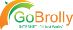 "GoBrolly Internet – ""It Just Works"" Logo"