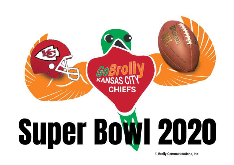 GoBrolly Bird Chiefs Football Super Bowl 2020