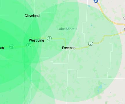 Freeman Missouri Internet Service Area
